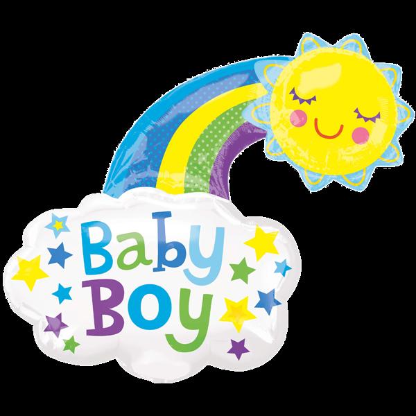 Geburt Folienballon Baby Boy