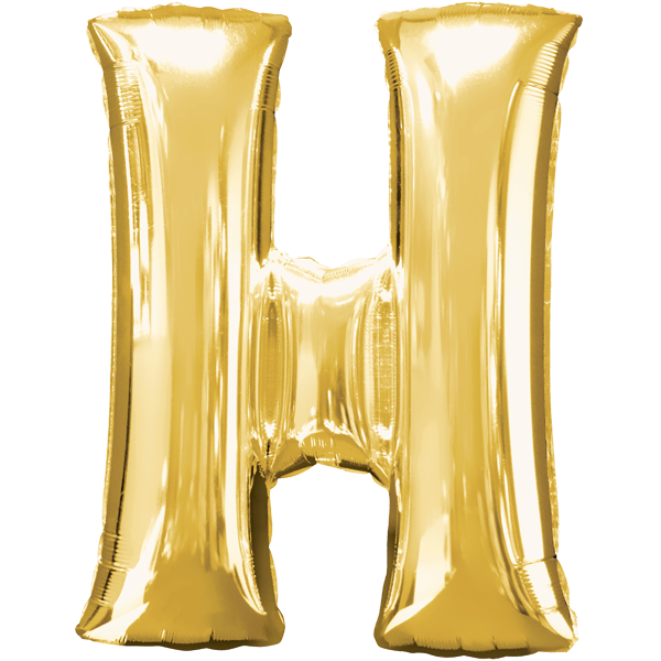 """Buchstabe """"H"""" Gold Folienballon"""