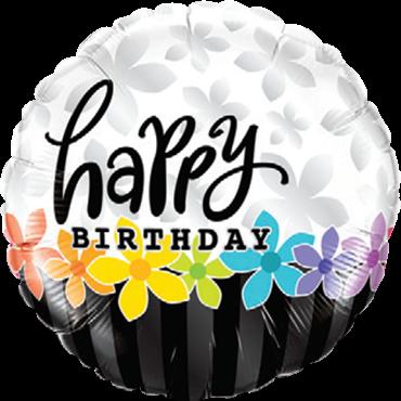Geburtstags-Band der Blumen-Folienballon