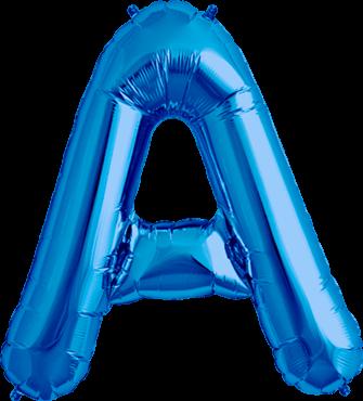 Buchstabe XXL - A - Blau - Folienballon