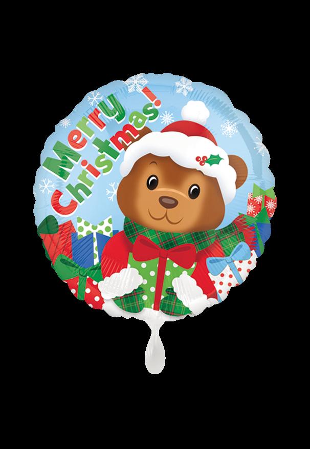Merry Christmas Bear Folienballon