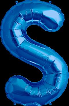 Buchstabe XXL - S - Blau - Folienballon